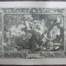 Arte: LES QUATRE ELMENTS - LE FEU. LEBRUN. 34,5 X 64,5 CM. Lote 60560527