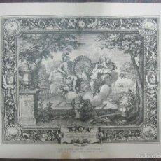 Arte: LES QUATRE SAISONS. LE PRINTEMPS. LEBRUN. 34,5 X 64,5 CM. Lote 60560591