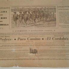 Arte: ANTIGUO GRABADO CARTEL DE MARBELLA. PLAZA DE TOROS 1964 NÚMERO 177 DE 500. Lote 60859535
