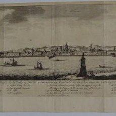 Cataluña. Barcelona. Vista topográfica por Pieter vander Aa, 1707