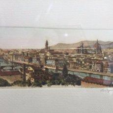 Arte: GRABADO, FIRMADO Y NUMERADO, VISTA PANORÁMICA DE FLORENCIA. Lote 60991103