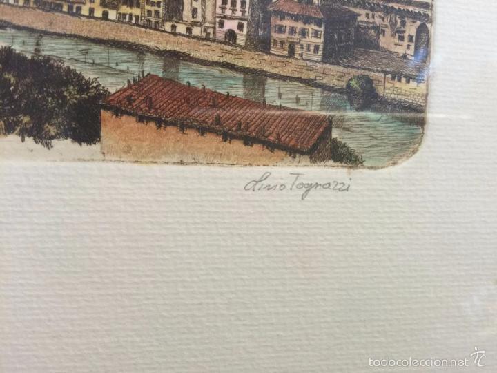 Arte: Grabado, firmado y numerado, vista panorámica de Florencia - Foto 3 - 60991103