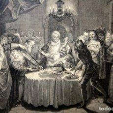 Arte: LA TABLE DE SANCHO. GRABADO. COYPEL. BEUVAIS. PARIS. FRANCIA. 1728(?). Lote 61909800