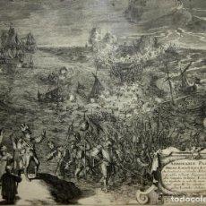 Arte: PASAGE DE LOS ESPAÑOLES A CELANDIA. GRABADO. ROMEYN DE HOOGHE. HOLANDA(?). 1681.. Lote 61973276