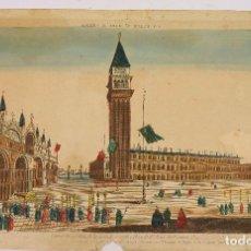 Arte: VENECIA, VISTA ÓPTICA AÑO 1766. 28,5X42 CM.. Lote 62372028