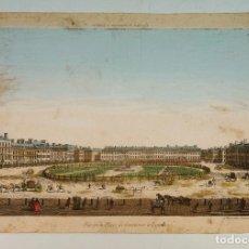 Arte: LONDRES, VIIE DE LA PLACE DE GROSVERNOR, S.XVIII. 28X41,5 CM.. Lote 62372244