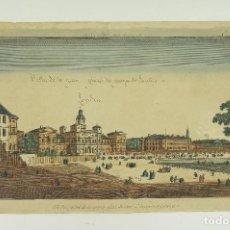 Arte: VISTA ÓPTICA DE LONDRES, LA GRANDE PLACE DU PARC ST. JACQUES. 26,5X44,5 CM.. Lote 62372452