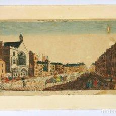 Arte: VISTA ÓPTICA DE LONDRES, WESTMINSTER . 26,5X44,5 CM. BASTANTE ROTO. Lote 62372584
