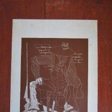Arte: GRABADO DE JUAN ANTONIO ALDA - ZAPATILLAS - LÍNEAS AÉREAS DE ESPAÑA - IBERIA - 1974. Lote 62570388