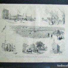 Arte: ARANJUEZ, FIESTA HIPICA EN LA POSESION DE LOS SRES.DUQUES. Lote 63171152