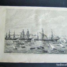 Arte: CADIZ-LLEGADA DEL VAPOR CORREO ESPAÑA-. Lote 63172400