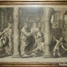 Arte: J3-011- SAN PEDRO Y SAN JUAN. GRABADO POR DORIGNY. ORIGINAL RAFAEL. SIGLO XVIII. Lote 40903677