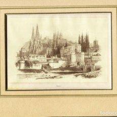 Arte: GRABADO XILOGRAFIA: BURGOS AÑO 1848. AUTOR PANNEMAKER. Lote 63408008
