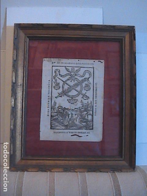 GRABADO ORIGINAL BARROCO DE 1687 (S.XVII) DEL COMPENDIO DESPERTADOR CRISTIANO. JOSEPH BARCIA. (Arte - Grabados - Antiguos hasta el siglo XVIII)