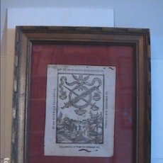 Arte: GRABADO ORIGINAL BARROCO DE 1687 (S.XVII) DEL COMPENDIO DESPERTADOR CRISTIANO. JOSEPH BARCIA.. Lote 63640595