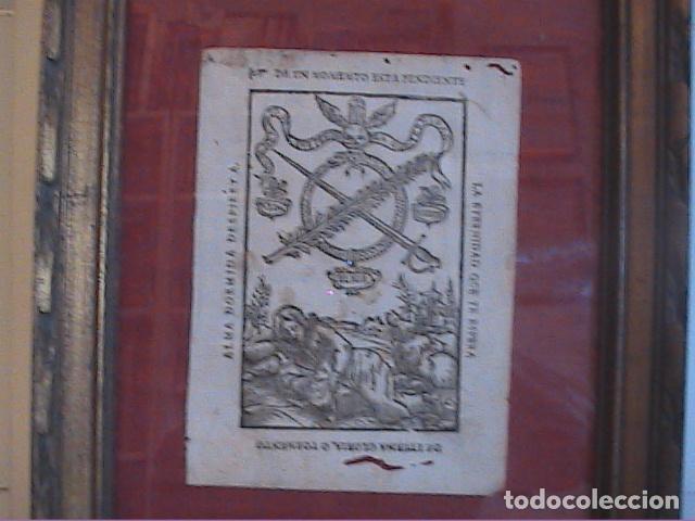 Arte: GRABADO ORIGINAL BARROCO DE 1687 (S.XVII) DEL COMPENDIO DESPERTADOR CRISTIANO. JOSEPH BARCIA. - Foto 2 - 63640595