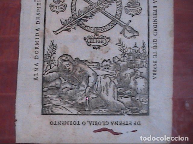 Arte: GRABADO ORIGINAL BARROCO DE 1687 (S.XVII) DEL COMPENDIO DESPERTADOR CRISTIANO. JOSEPH BARCIA. - Foto 4 - 63640595