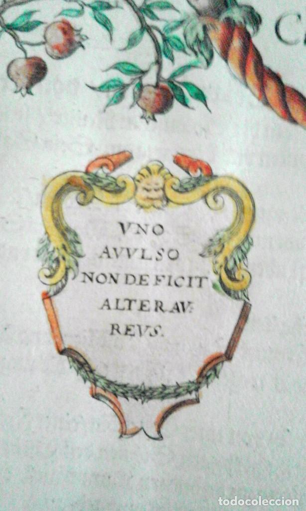 Arte: Grabado antiguo Aragón árbol genealógico Reyes aragoneses año 1650 con certificado autenticidad . - Foto 5 - 63807043