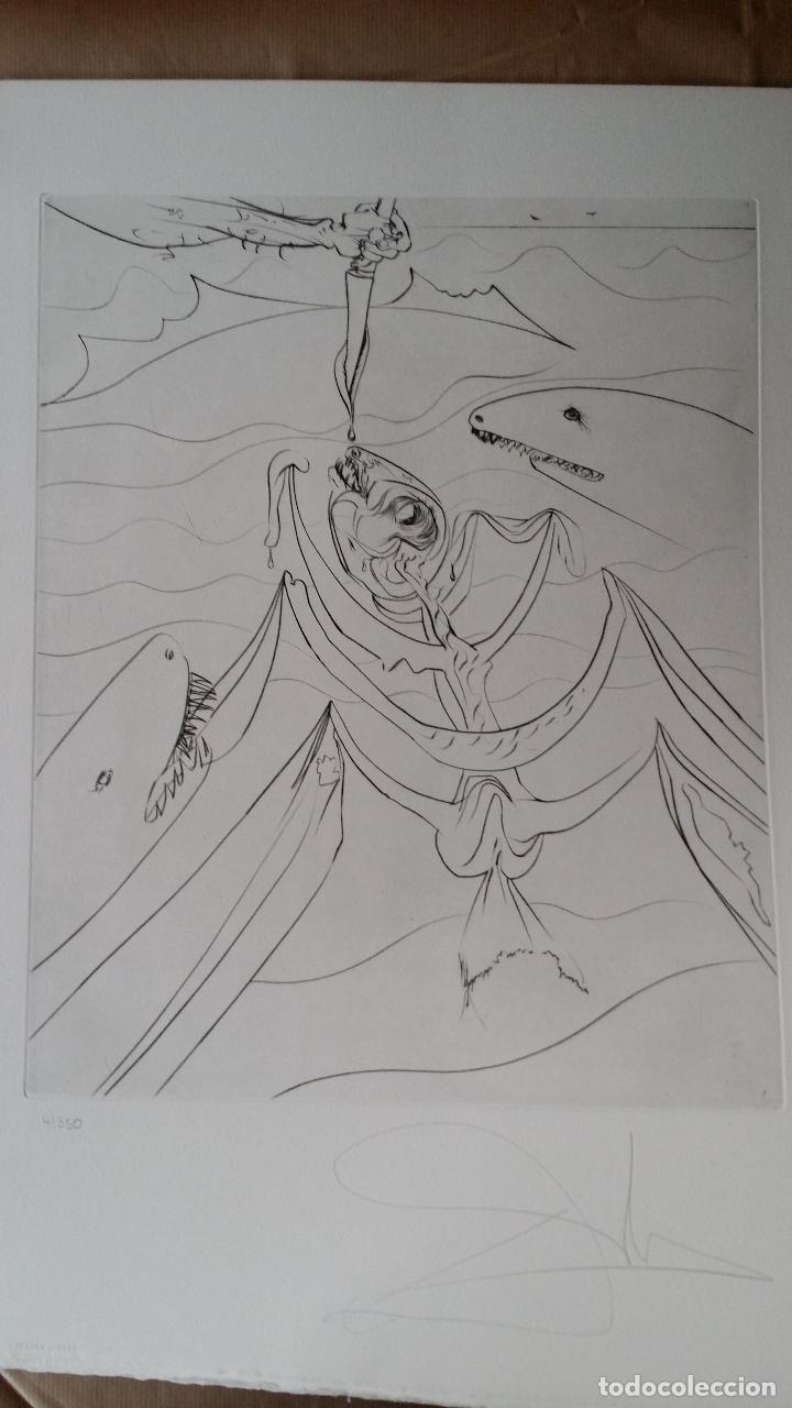 Arte: SALVADOR DALÍ- HEMINGWAY: SUITE EL VIEJO Y EL MAR / carpeta COMPLETA CON 6 GRABADOS + LIBRO nº, 1974 - Foto 9 - 64043711