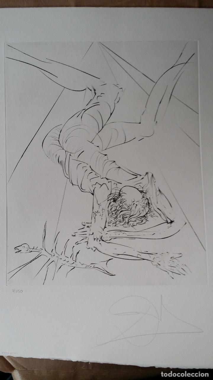 Arte: SALVADOR DALÍ- HEMINGWAY: SUITE EL VIEJO Y EL MAR / carpeta COMPLETA CON 6 GRABADOS + LIBRO nº, 1974 - Foto 10 - 64043711