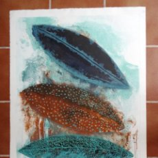 Arte: AGUAFUERTE BODEGÓN NATURALEZA HOJAS FREDERIC AMAT. Lote 64051495