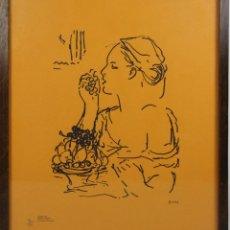 Arte: K1-009. PEDRO PRUNA. GRABADO CON PLANCHA. PRUEBA DE AUTOR. MED. S XX.. Lote 43863142