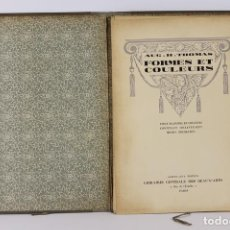 Arte: 6304 - FORMES ET COULEURS. AUG. H.THOMAS. LIB. CTRLE. DES BEAUX- ARTS. S/F.. Lote 44058208