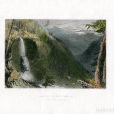 Arte: ESTADOS UNIDOS. NEW YORK. THE CATTERKILL FALLS GRABADO POR J.T. WILLMORE, 1840. Lote 64295447