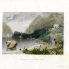 Arte: ESTADOS UNIDOS. UNDERCLIFF NEAR COLD-SPRING, 1845, GRABADO POR J.T. WILLMORE.. Lote 64295699