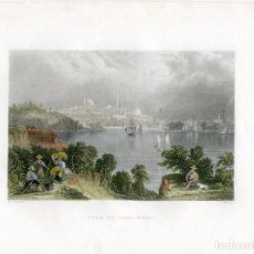 Arte: E.E.U.U. VIEW OF BALTIMORE, GRABADO POR S. FISHER, DIBUJÓ W.H. BARLETT, 1845. Lote 64296603