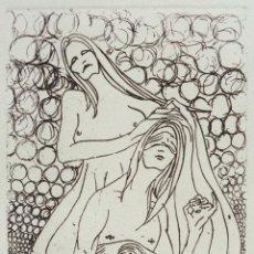 Arte: ABSENTA. GRABADO (AGUAFUERTE) SOBRE PAPEL. 28 X 38 CM. OBRA ORIGINAL FIRMADA.. Lote 64478619