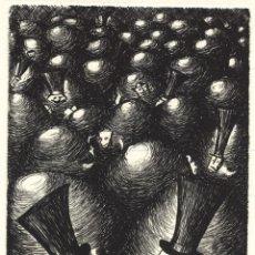 Arte: NADIE SE CONOCE. GRABADO (AGUAFUERTE) SOBRE PAPEL. 28 X 38 CM. OBRA ORIGINAL FIRMADA.. Lote 64479047