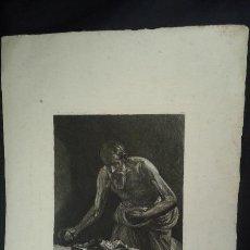 Arte: GRABADO AGUAFUERTE. EUGENIO DE LEMUS Y OLMO, TRISTÁN. EL GRABADOR AL AGUAFUERTE. AÑO 1876.. Lote 64710183