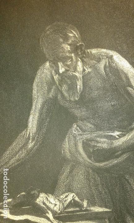 Arte: Grabado aguafuerte. Eugenio de Lemus y Olmo, Tristán. El grabador al aguafuerte. Año 1876. - Foto 5 - 64710183