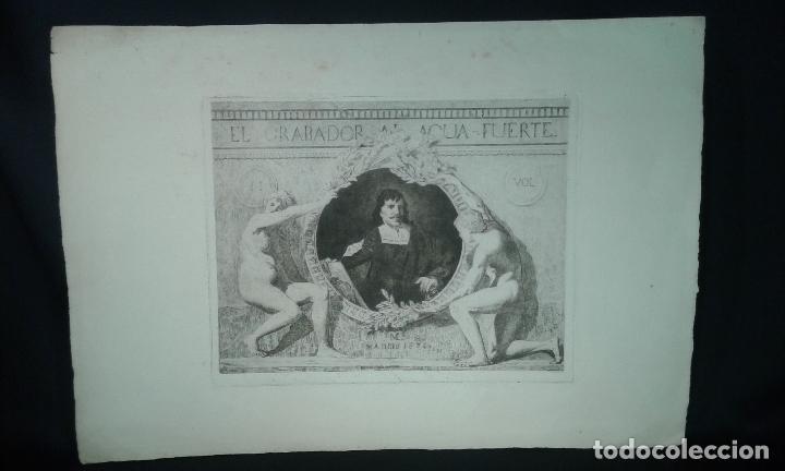 GRABADO AGUAFUERTE. EL GRABADOR AL AGUAFUERTE. VOLUMEN II. MADRID 1875. (Arte - Grabados - Modernos siglo XIX)