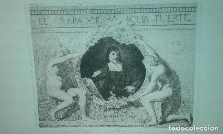 Arte: Grabado aguafuerte. El grabador al aguafuerte. Volumen II. Madrid 1875. - Foto 2 - 64711263