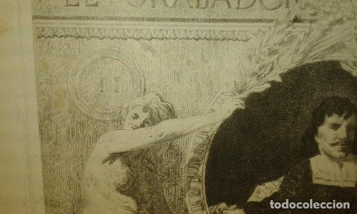 Arte: Grabado aguafuerte. El grabador al aguafuerte. Volumen II. Madrid 1875. - Foto 4 - 64711263