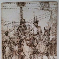 Arte: FERIA DE SEVILLA A CABALLO - A. MARTÍ - GRABADO - 12/250. Lote 65041859