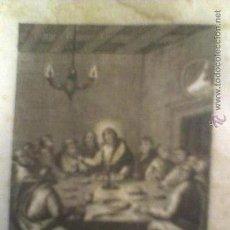 Arte: GRABADO ANTIGUO ( VALENCIA ) PRICIPIOS DE SIGLO XIX SANTA CENA FIRMADO E BOIX. Lote 27590538