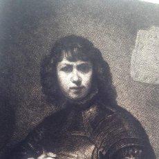 Arte: REMBRANT - HOMME D'ARME - ED. L'ART - GRABADO FERD. LEENHOFF. Lote 65989814