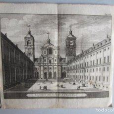 Arte: 1707-VISTA PATIO DEL ESCORIAL MADRID.DELICES ESPAÑA.GRABADO ORIGINAL JUAN ALVAREZ COLMENAR. Lote 66154994