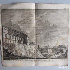 Arte: 1707-VISTA DE TOLEDO Y EL ALCÁZAR.DELICES ESPAÑA.GRABADO ORIGINAL JUAN ALVAREZ COLMENAR. Lote 66155678