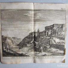 Arte: 1707-VISTA DE TOLEDO Y EL TAJO.DELICES ESPAÑA.GRABADO ORIGINAL JUAN ALVAREZ COLMENAR. Lote 66155818