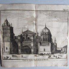Arte: 1707-VISTA CATEDRAL DE TOLEDO.DELICES ESPAÑA.GRABADO ORIGINAL JUAN ALVAREZ COLMENAR. Lote 66156150