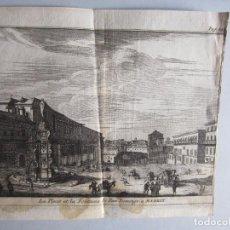 Arte: 1707-PLAZA FUENTE SANTO DOMINGO MADRID.DELICES ESPAÑA.GRABADO ORIGINAL JUAN ALVAREZ COLMENAR. Lote 66156422