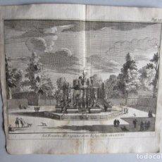 Arte: 1707-FUENTE DE NEPTUNO.ARANJUEZ MADRID.DELICES ESPAÑA.GRABADO ORIGINAL JUAN ALVAREZ COLMENAR. Lote 66156970