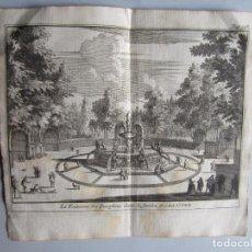 Arte: 1707-FUENTE DEL DELFÍN.ARANJUEZ MADRID.DELICES ESPAÑA.GRABADO ORIGINAL JUAN ALVAREZ COLMENAR. Lote 66157394