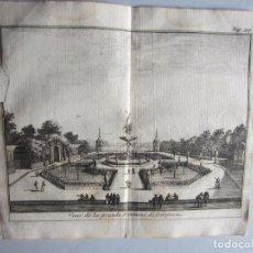 Arte: 1707-FUENTE GRANDE.ARANJUEZ MADRID.DELICES ESPAÑA.GRABADO ORIGINAL JUAN ALVAREZ COLMENAR. Lote 66157530
