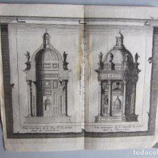 Arte: 1707-2 VISTAS ALTAR MONASTERIO ESCORIAL MADRID.DELICES ESPAÑA.GRABADO ORIGINAL JUAN ALVAREZ COLMENAR. Lote 66157850