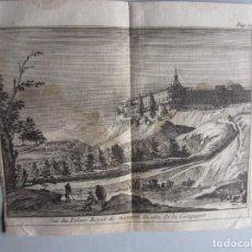 Arte: 1707-VISTA DEL PALACIO REAL DE MADRID.DELICES ESPAÑA.GRABADO ORIGINAL JUAN ALVAREZ COLMENAR. Lote 66159450